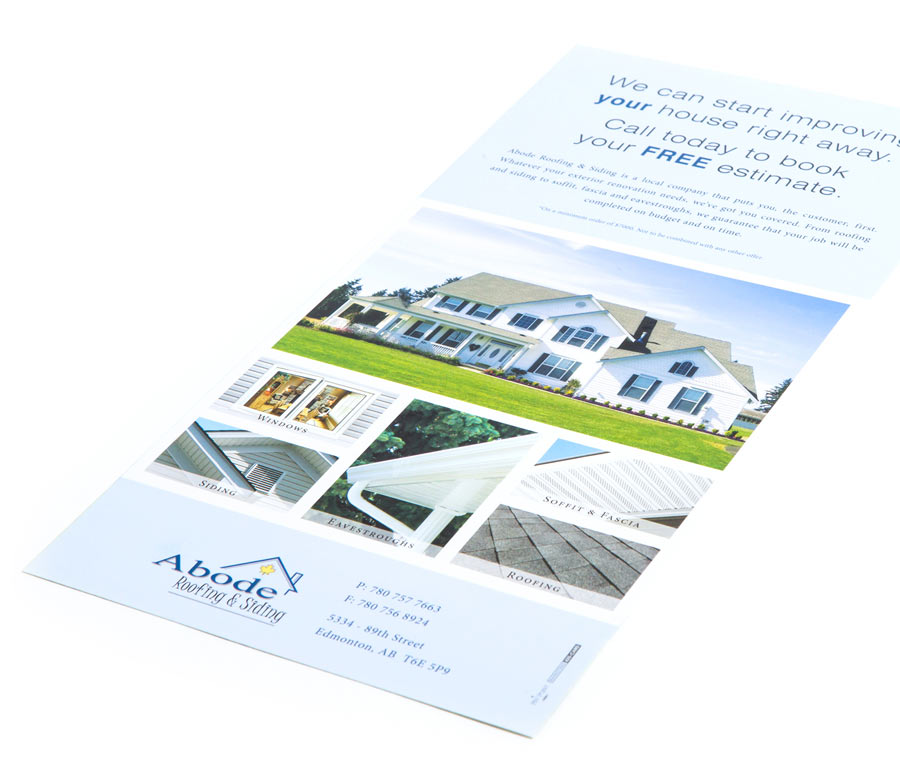 Abode Roofing & Siding Branded Direct Mailer