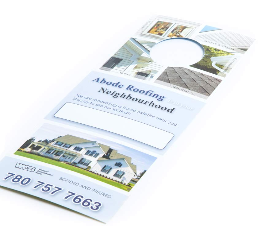 Abode Roofing & Siding Door Hanger