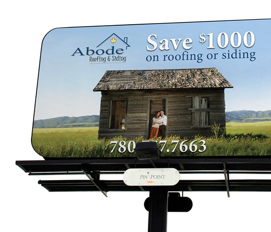 Abode Roofing & Siding Outdoor Marketing