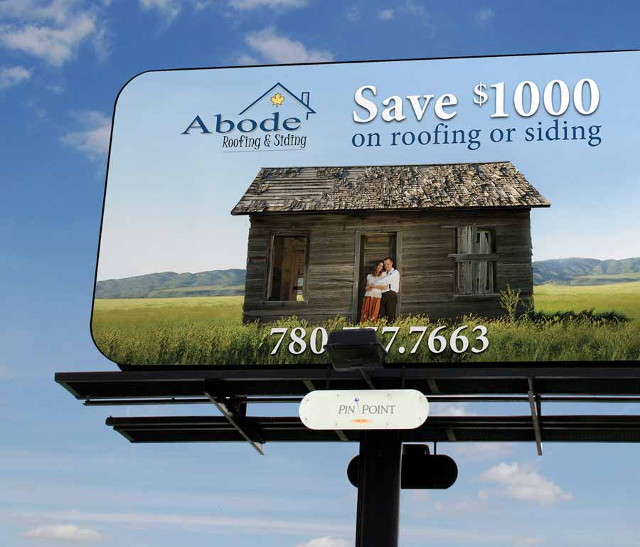 Abode Roofing & Siding Billboard