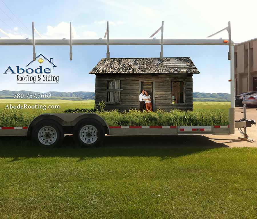 Abode Roofing & Siding Trailer Wrap