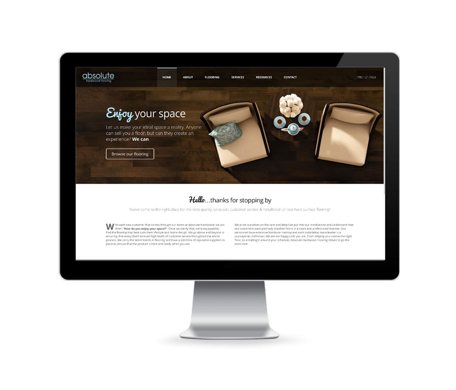 Absolute Hardwood Responsive Product Website