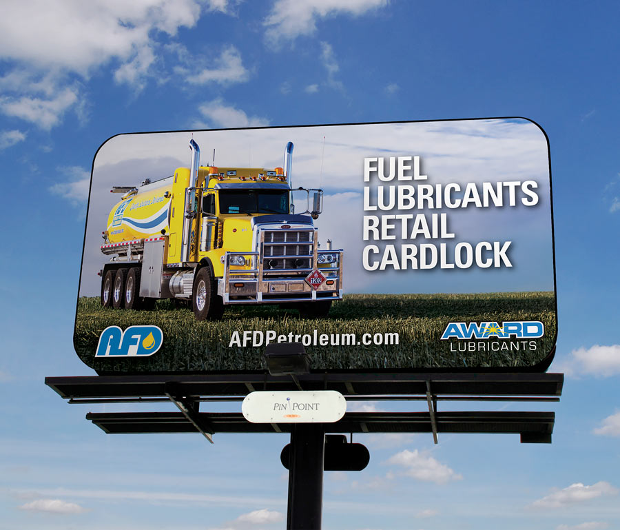 AFD Petroleum Award Lubricants Billboard