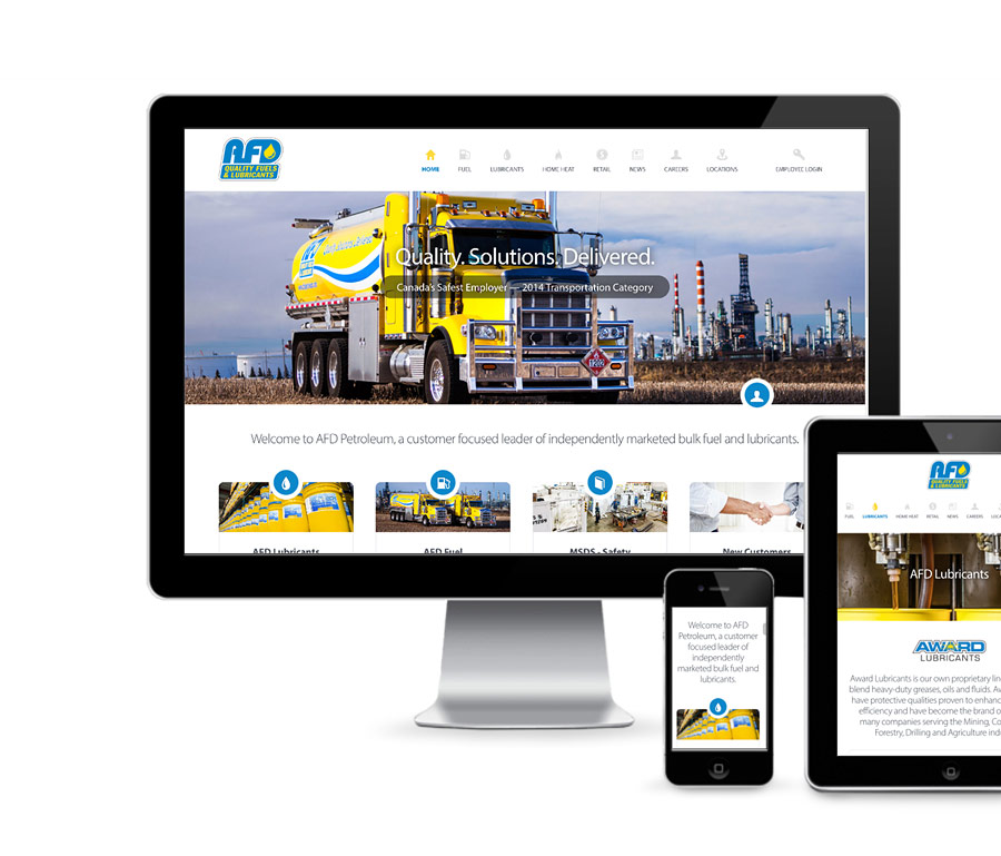 AFD Petroleum Home Page Design