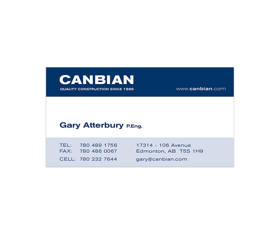 Canbian Construction Business Card