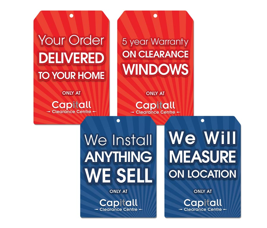 Capitall Exteriors In-Store Banner Campaign