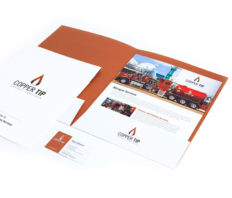 Copper Tip Energy Brand Identity Package