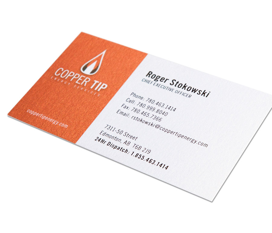 Copper Tip Energy Business Card