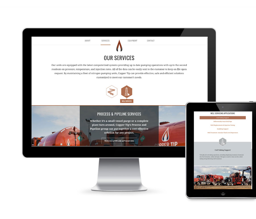 Copper Tip Energy Home Page Design