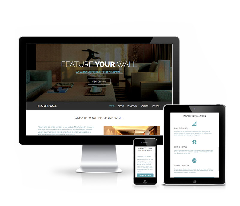 Feature Wall Responsive Product Website