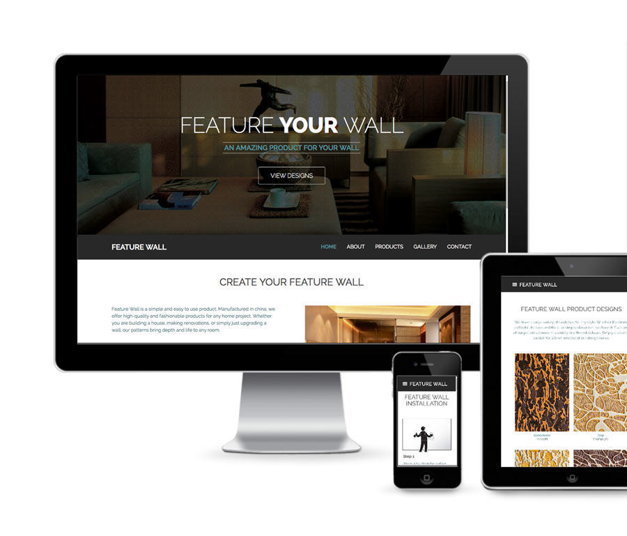 Feature Wall Home Page