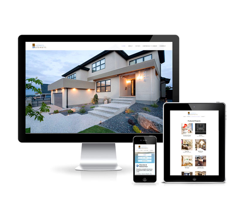 Homes by Element Responsive Company Website
