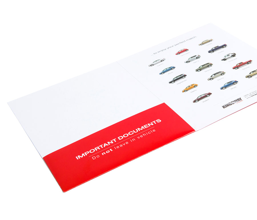 Kingsway Toyota Mini Presentation Folder