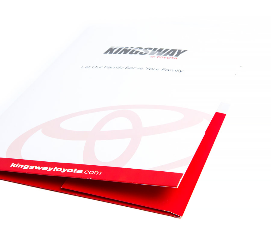 Kingsway Toyota Large Presentation Folder