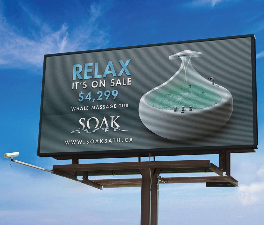 Soak Massage Tub Video Board