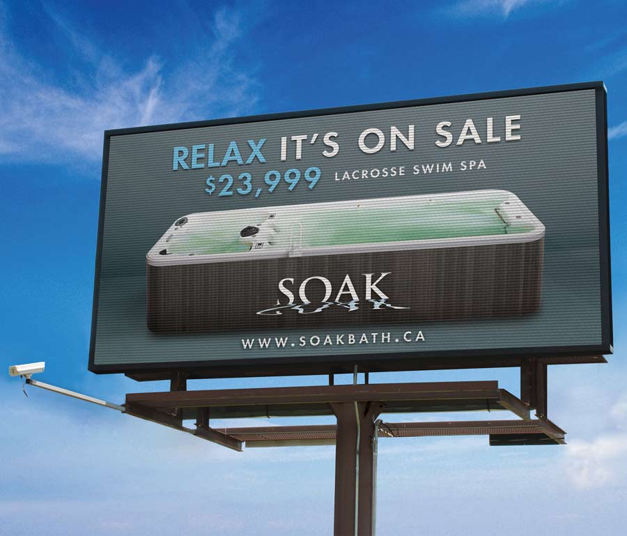 Soak Swim Spa Video Board