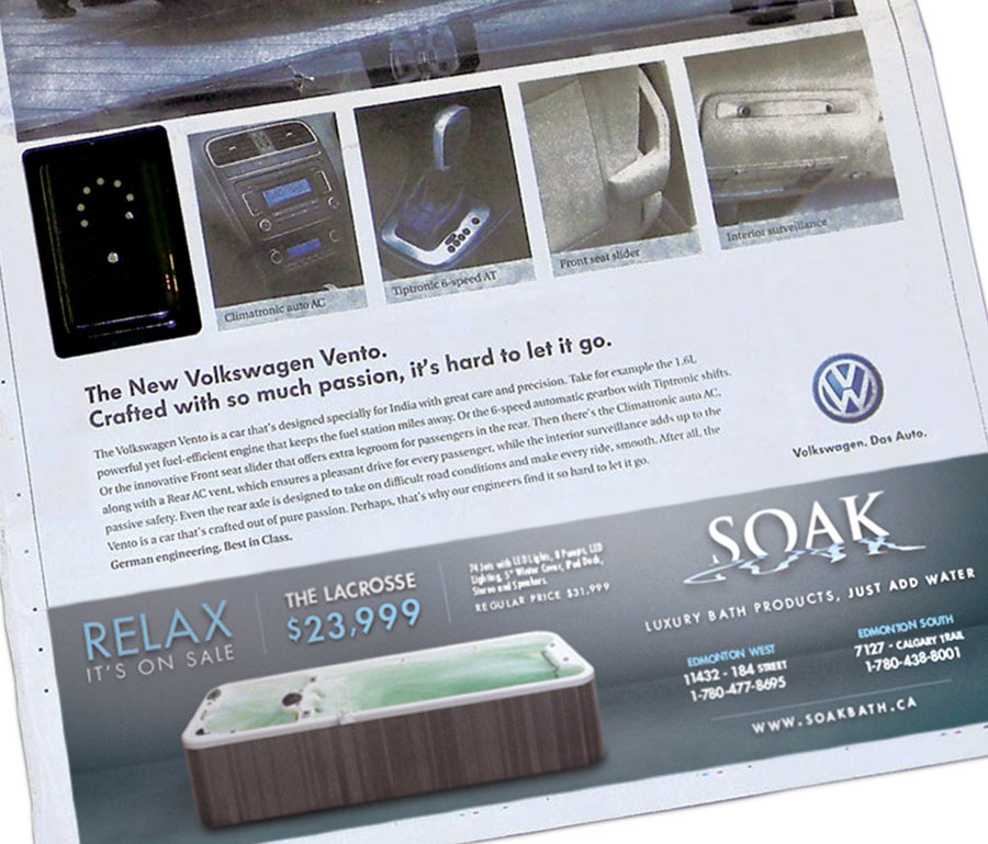 Soak Sun Newspaper Ad